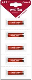 Батарейка алкалиновая Smartbuy LR03/5B strip (60/600) (SBBA-3A05B)