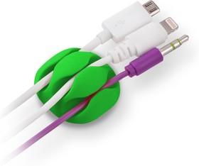 Фото 1/2 CM1103MX, Зажим кабельный, тройной, круглый, приклеивающийся, цветной