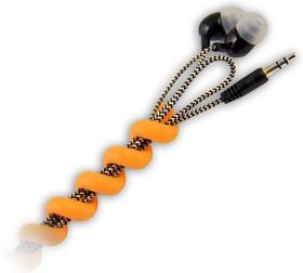 """Фото 1/2 CM1201Y, Органайзер кабельный гибкий, тип """"пружина"""", 10 см, желтый"""