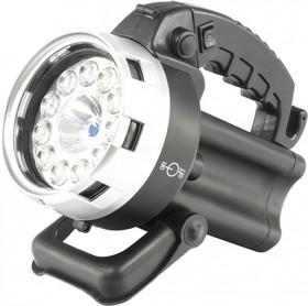 90532, Фонарь поисковый, аккумуляторный, галоген 25 Вт, 11 LED