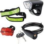 90561, Набор велосипедный : передний и задний фонари LED ...