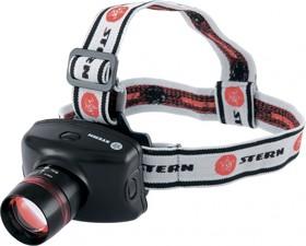 90567, Фонарь налобный Zoom, CREE Q5 LED, 3 Вт, 160 лм, 100 м,3 режима: 100%-50%-строб, 3хААА