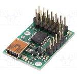POLOLU-1350, Контроллер, USB-UART, Каналы 6, 216x305мм, 5-16ВDC, 33-100Гц, 4,8г