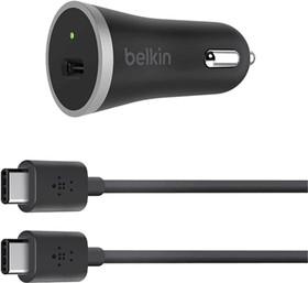F7U005bt04-BLK, Зарядное устройство Belkin АЗУ USB-C,15W, USB-C , 1.2m, BLACK