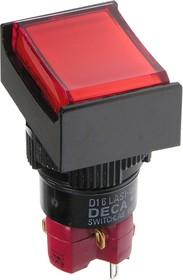 D16LMT2-1abHR кнопка без фикс. 250В/5А, LED подсветка 6В