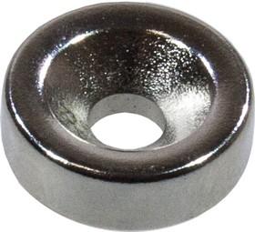 Магнит диск 15х4,5/10х5 мм неодимовый с зенковкой