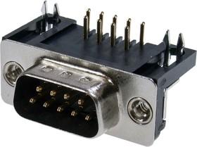 DRB-9MB вилка 9 pin на плату угл. 9.4мм KLS