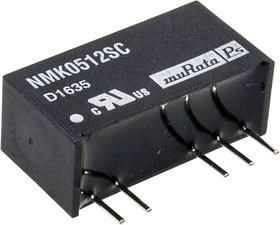 Фото 1/2 NMK0512SC, DC/DC TH 2Вт 5-12В SIP Dual AM2D-0512DH30Z P10LU-0512ZLF