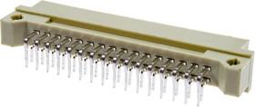 KLS1-D2X-2232-MR, DIN41612 вилка угл. 90 16 x 2 ряда AB 32 конт.