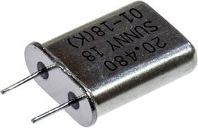КВ.РЕЗ. 20.480 МГЦ L 1ГАР.HC-49U, (кор. выводы) (14-16г.)