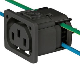 3-104-311, IEC OUTLET F, 10A, 250V, IDC, PANEL