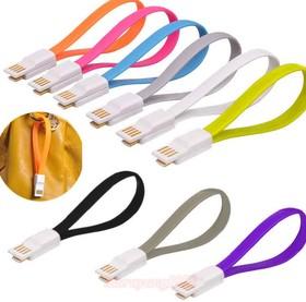 "PL1320(PL1321, PL1322,PL1323, PL1324,PL1325,PL1326), Кабель USB2.0 A вилка - Micro USB, ""браслет"", цветной, 0.25м (OBSOLETE)"