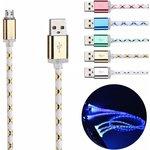 """Фото 2/2 PL1327(PL1328, PL1329,PL1330), Кабель USB2.0 A вилка - Micro USB, """"светящийся"""", цветной, 1м"""