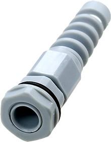 AG-12SR G, кабельный ввод полиамидный серый