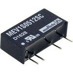 MEV1S0512SC, DC/DC преобразователь, 1 Вт, вход 4.5-5.5В, выход 12в/83мА, SIP