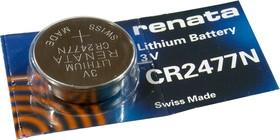 CR2477N, батарейка 3В, BC1, дисковая литий, 1 шт.
