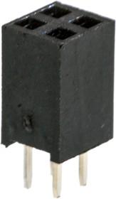 PBD-4, гнездо на плату шаг 2.54мм 2x2 прям.