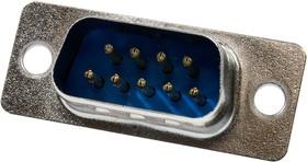 DB- 9M, вилка D-SUB 9 pin пайка на кабель
