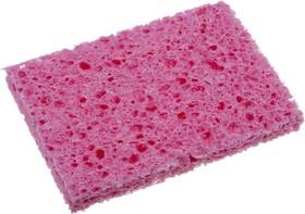 Губка для очистки паяльных жал, розовая 80х52х10