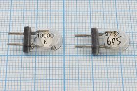 Фото 1/4 кварцевый резонатор 100МГц в стеклянном корпусе КА с жесткими выводами, 5-я гармоника 100000 \КА\\\\\5Г
