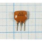 Пьезокерамический полосовой фильтр 6.0МГц, ширина полосы 160кГц ф 6000 ...