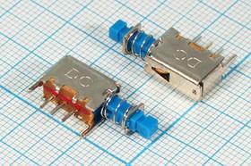 Переключатель кнопочный ( с фиксацией) 50В/0,3А ПКнTV\ 50\ 0,3\ON-ON\\\3P\PS- 12E15SELF-LOCK\угл