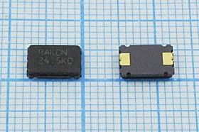 кварцевый резонатор 24.576МГц в корпусе SMD 7x5мм с двумя контактами, нагрузка 18пФ, 24576 \SMD07050C2\18\ 30\\CSX-1\1Г (RAKON)