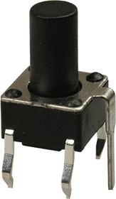 0695GHIM-130G-G, кнопка тактовая 6х6 с заземл. h=9.5мм (аналог TS-A4PG-130)