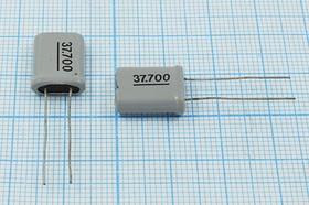 кварцевый резонатор 37.7МГц в корпусе HC49U=HC18U, с нагрузкой 12пФ, 37700 \HC18U\12\ 40\\\3Г +SL (37.700)