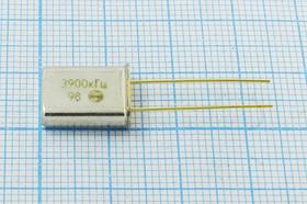 Фото 1/2 кварцевый резонатор 3.9МГц в позолочённых корпусе HC49U, без нагрузки, 3900 \HC49U\S\ 15\\РК374МД\1Г зол выв