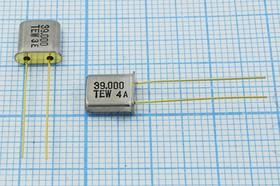 кварцевый резонатор 39МГц в миниатюрном корпусе UM1, 3-ья гармоника, без нагрузки, 39000 \UM1\S\ 20\\TR-1\3Г (TEW)