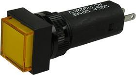 ADP16F4-0S0-E1TY, Индикатор желтый 220В/3А