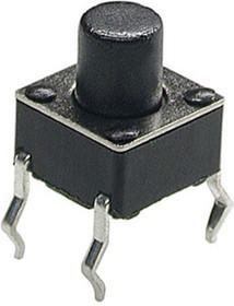 0670HIM-130G-G, кнопка тактовая 6х6 h=7мм (аналог TS-A3PS-130 SWT6)