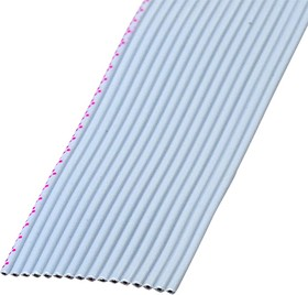 FRC-16-31, кабель плоский шаг 1.27мм, 16 жил 7х0.127мм