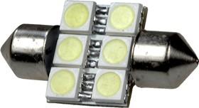ARL-T10X31MM, 5050 smd 6-LED(12V, SV8.5HR) ARL (авт.лампы)