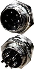1-562-8, разъем MIC 8 контакто штекер металл на корпус