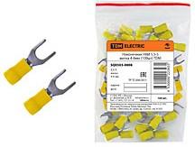SQ0503-0008, НВИ5,5-5, клемма тип U М5 вилка 4-6мм желтая (100шт)