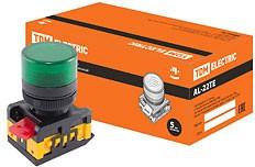 SQ0702-0011, AL-22TE, лампа сигнальная d22мм зеленая неон/230В цилиндр