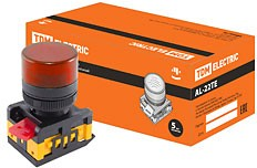 SQ0702-0010, AL-22TE, лампа сигнальная d22мм красная неон/230В цилиндр