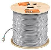 SQ0107-0104, FTP4-STCat6, витая пара 4х2х23AWG (305м) solid, ПВХ, серый (F/UTP)