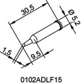 102ADLF15, soldering tip ERSADUR