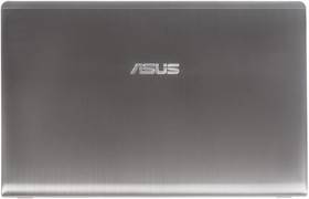 Фото 1/2 (13GN9J1AM080-1) крышка экрана (матрицы) Asus N56D, N56DP, N56DY, N56V, N56V8, N56VB, N56VJ, N56VM, N56VV, N56VZ, G56J чёрная, металическая,