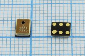 Микрофон цифровой МЭМС,звуковое отверстие на крышке,прямоугольной формы 4.72x3.76x1.25мм; KPCM-MSD4737H12-26dB