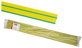 SQ0518-0217, термоусадочная трубка ТУТнг 10/5 желто-зеленая по 1м (50 м/упак)