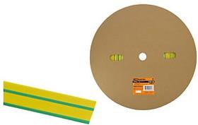SQ0518-0052, термоусадочная трубка ТУТнг 20/10 желто-зеленая