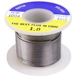 SOLD.WIRE, 1.0MM, 100GM/ROLL (SN 63%), 63%Sn ...