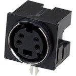 """1-480, Разъем mini DIN 4 pin (S-VHS) """"гн"""" пластик на плату"""
