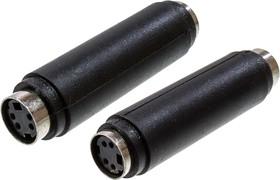 2-320, переходник MINI DIN 4 pin(S-VHS)гнездо - MINI DIN 4 pin(S-VHS)гнездо пластик