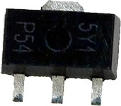 Фото 1/4 BZV49-C5V1.115, Диод стабилитрон, 1Вт, 5В, SMD, бобина, SOT89, 250мА, 4,5x2,5x1,5мм
