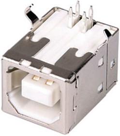 USBB-1J-W, розетка на плату тип B белая
